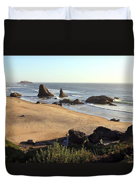 Bandon Beachfront Duvet Cover by Athena Mckinzie