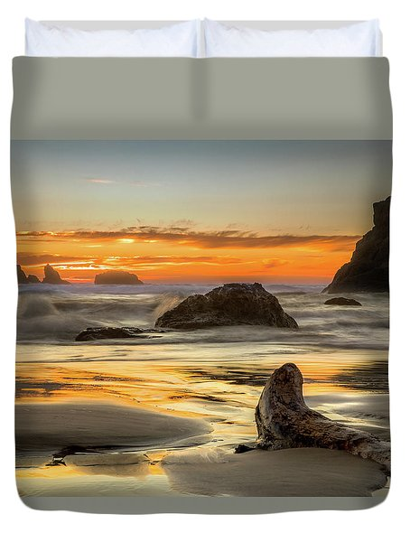 Bandon Orange Glow Sunset Duvet Cover