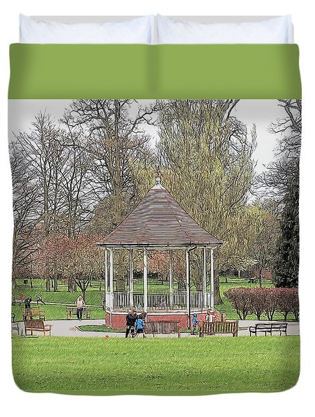 Bandstand Games Duvet Cover