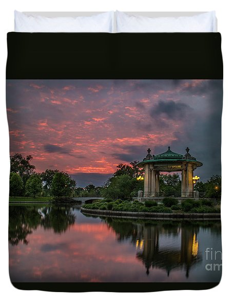 Bandstand In Front Of The Muny Duvet Cover