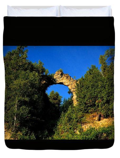Beneath Arch Rock Duvet Cover