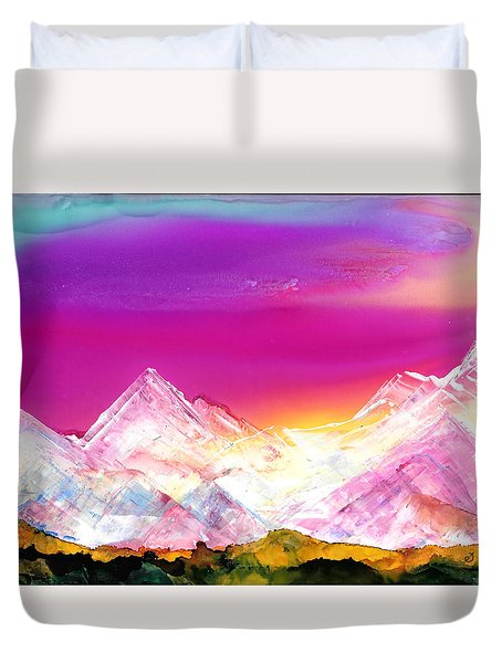 Banff At Dusk Duvet Cover