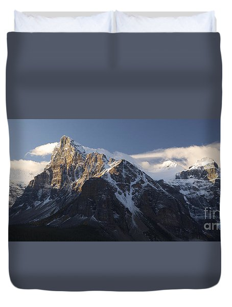 Duvet Cover featuring the photograph Banff National Park by Keith Kapple