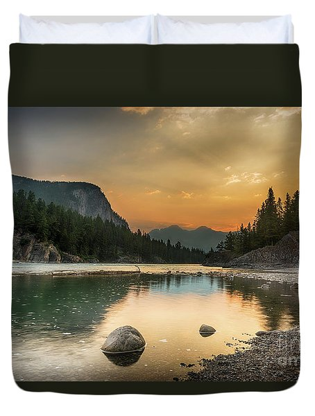 Banff Sunrise Duvet Cover
