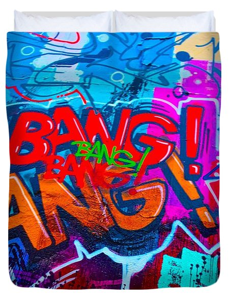Bang Graffiti Nyc 2014 Duvet Cover