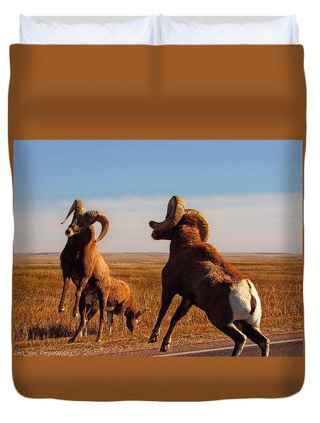 Bang Of The Bighorn Duvet Cover