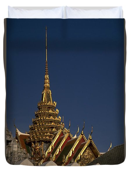 Duvet Cover featuring the photograph Bangkok Grand Palace by Travel Pics