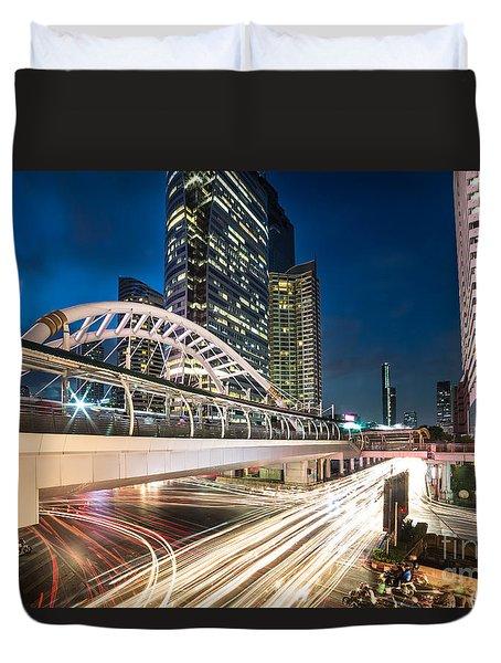 Bangkok Night Rush  Duvet Cover