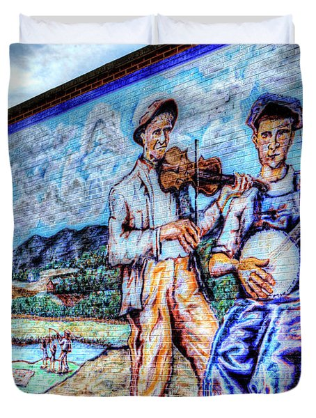 Banjo Mural Duvet Cover by Dale R Carlson
