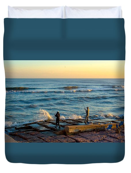 Bank Fishing Duvet Cover