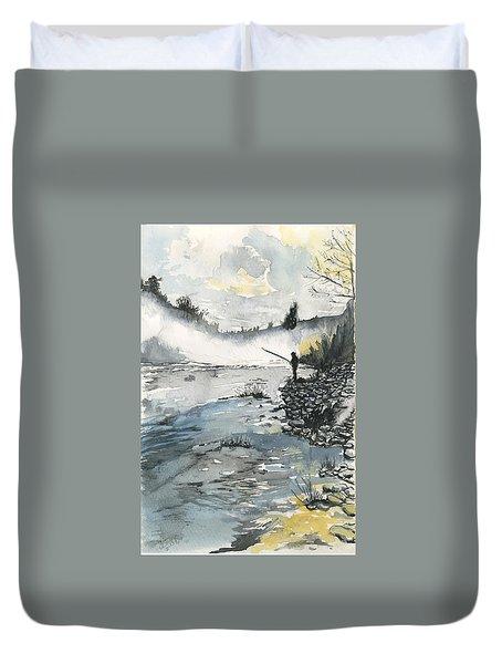 Bank Fishing Duvet Cover