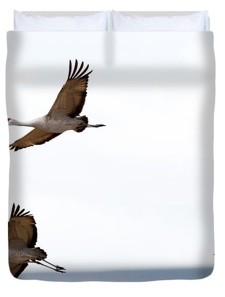 Bank Right Duvet Cover by Mike Dawson
