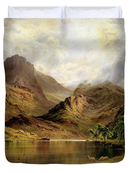 Banks Of Arrochar Duvet Cover by Alfred de Breanski