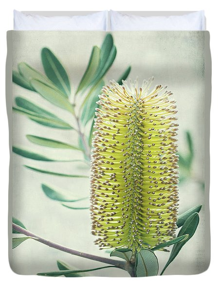 Duvet Cover featuring the photograph Banksia by Linda Lees