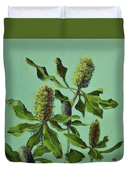 Banksias Australian Flora Painting Duvet Cover