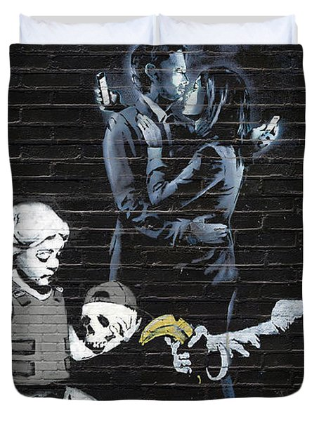Banksy - Failure To Communicate Duvet Cover