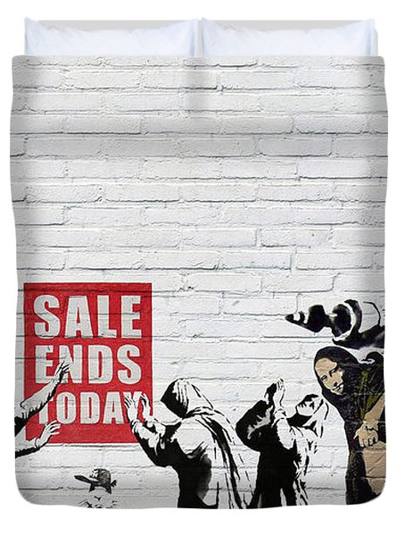 Banksy - Saints And Sinners   Duvet Cover