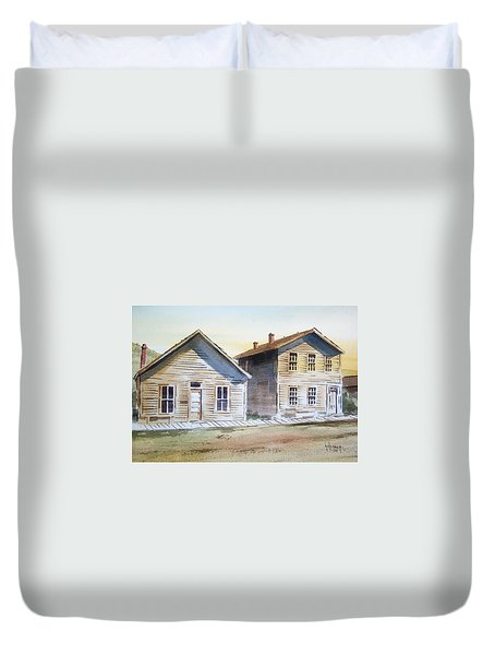 Bannack Ghost Town Montana Duvet Cover by Kevin Heaney