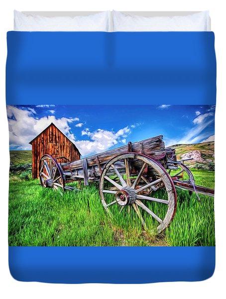 Bannack Wagon Duvet Cover