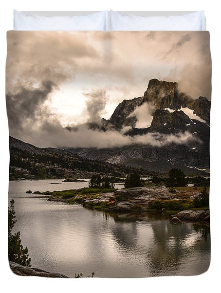 Banner Peak In A Clearing Storm Duvet Cover