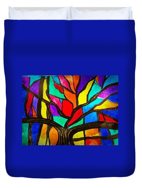 Banyan Tree Abstract Duvet Cover