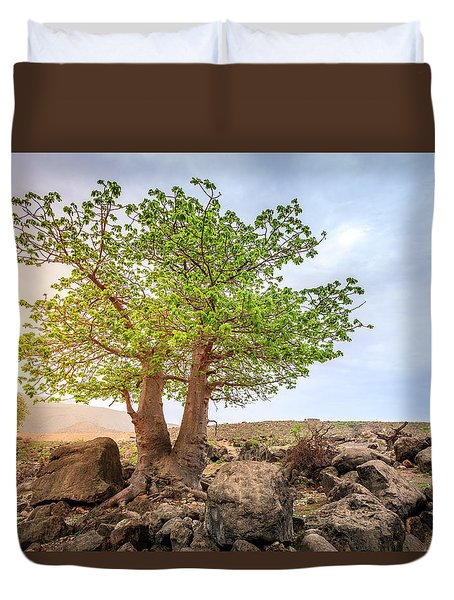 Duvet Cover featuring the photograph Baobab Tree by Alexey Stiop