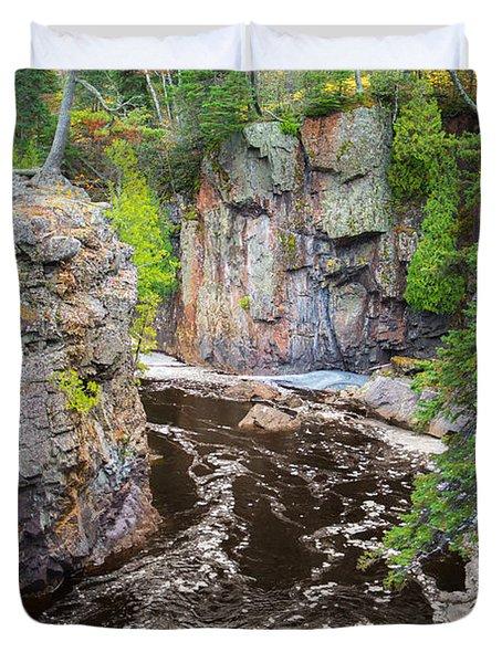 Baptism River In Tettegouche State Park Mn Duvet Cover