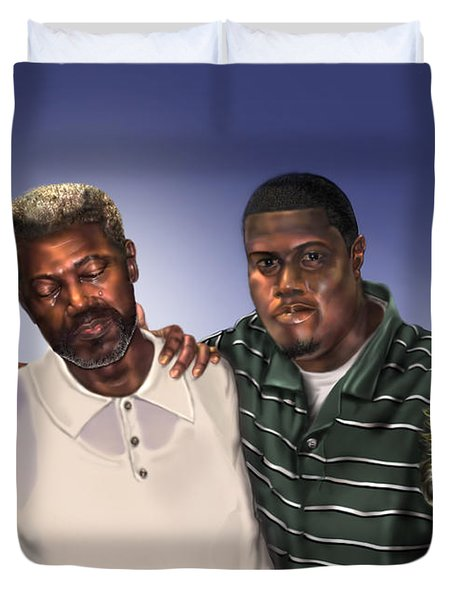 Baptized In His Glory Duvet Cover by Reggie Duffie