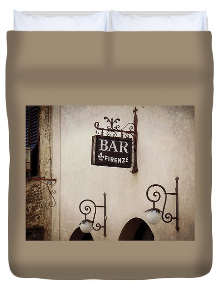 Bar Firenze Duvet Cover