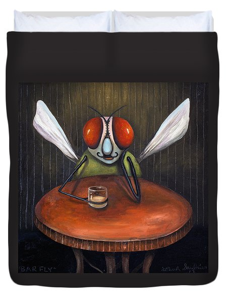 Bar Fly Duvet Cover by Leah Saulnier The Painting Maniac