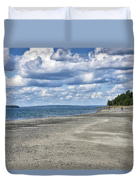 Bar Harbor - Land Bridge To Bar Island - Maine Duvet Cover
