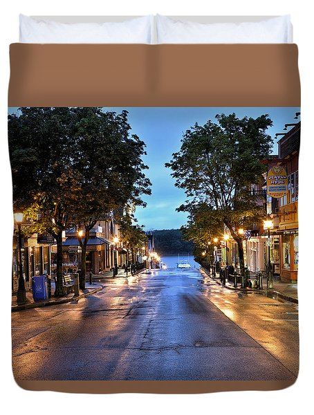 Bar Harbor - Main Street Duvet Cover