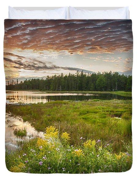 Bar Harbor Maine Sunset One Duvet Cover by Kevin Blackburn