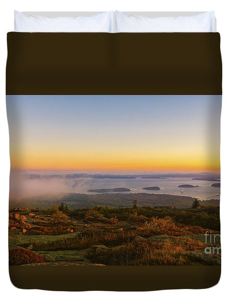 Bar Harbor Sunrise. Duvet Cover