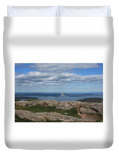 Bar Harbor View From Cadillac Duvet Cover