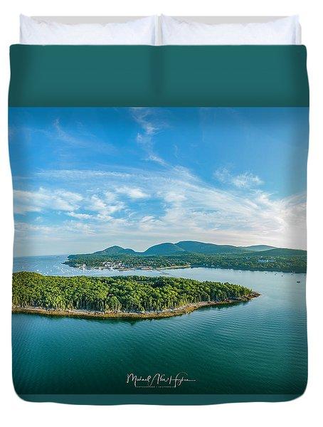 Bar Island, Bar Harbor  Duvet Cover