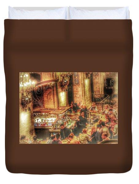 Bar Scene Duvet Cover