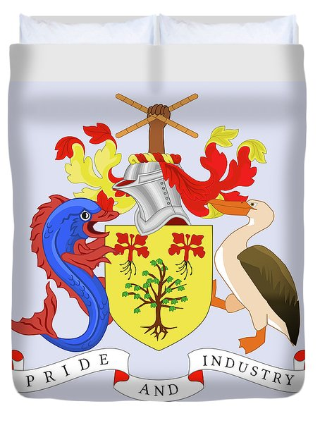 Barbados Coat Of Arms Duvet Cover by Movie Poster Prints