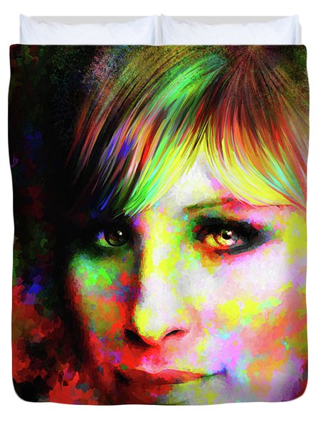 Barbara Streisand Duvet Cover