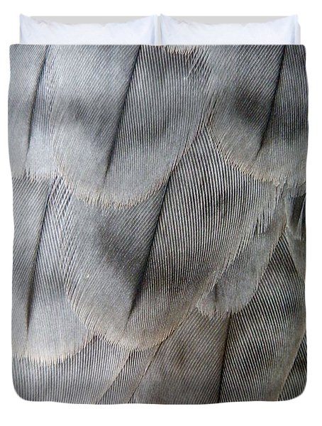Barbary Falcon Feathers Duvet Cover