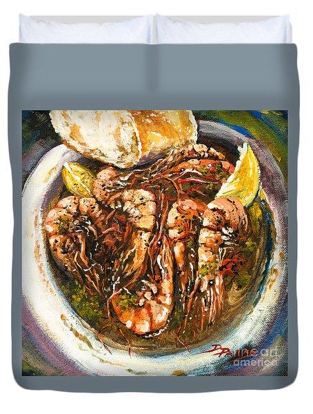 Barbequed Shrimp Duvet Cover