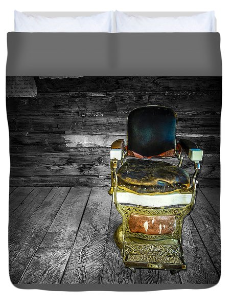 Ghost Town Barber Chair No. 1 Duvet Cover