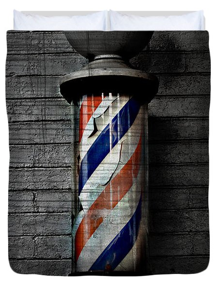 Barber Pole Blues  Duvet Cover by Jerry Cordeiro