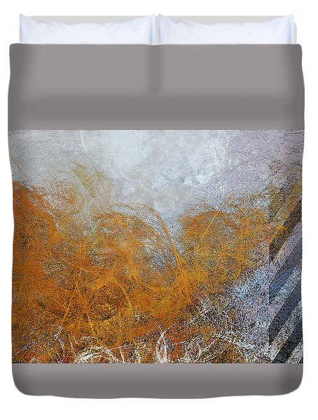 Barber Pole Duvet Cover by Constance Krejci