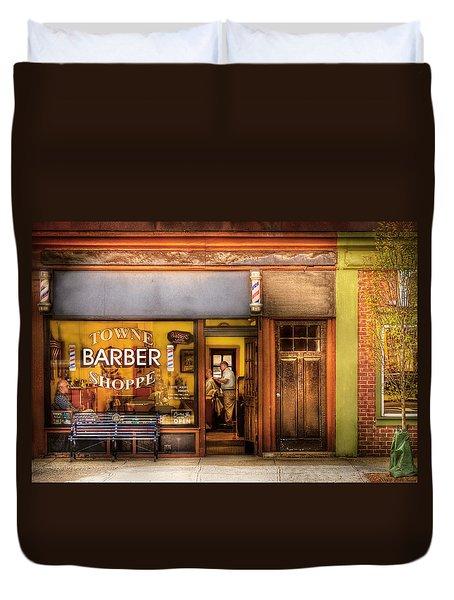 Barber - Towne Barber Shop Duvet Cover