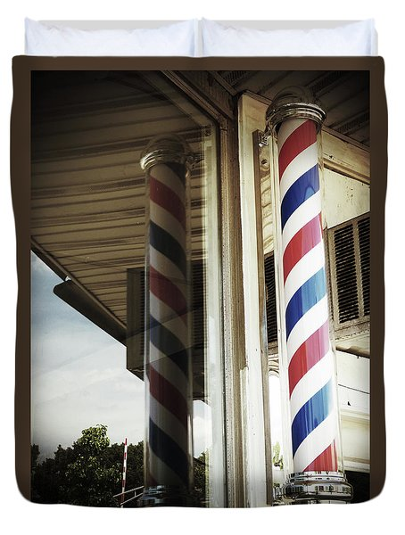 Barbershop Pole Duvet Cover