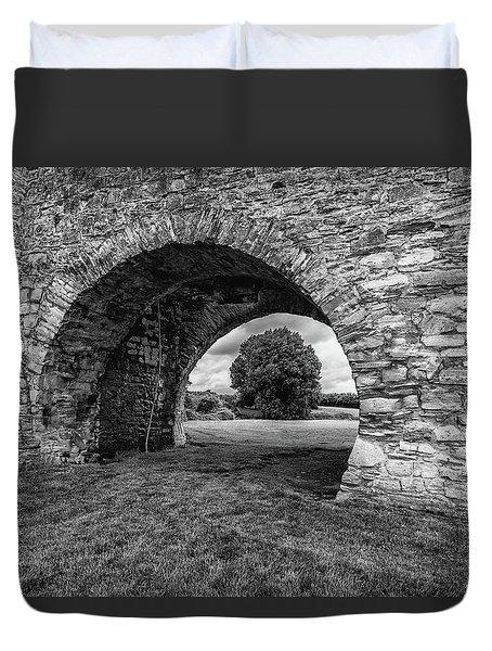 Barbican Gate Trim Castle Duvet Cover