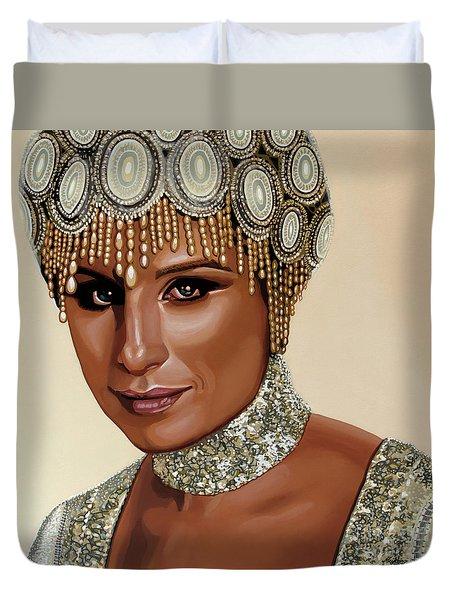 Barbra Streisand 2 Duvet Cover by Paul Meijering