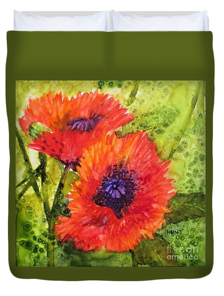 Barbs Poppies Duvet Cover