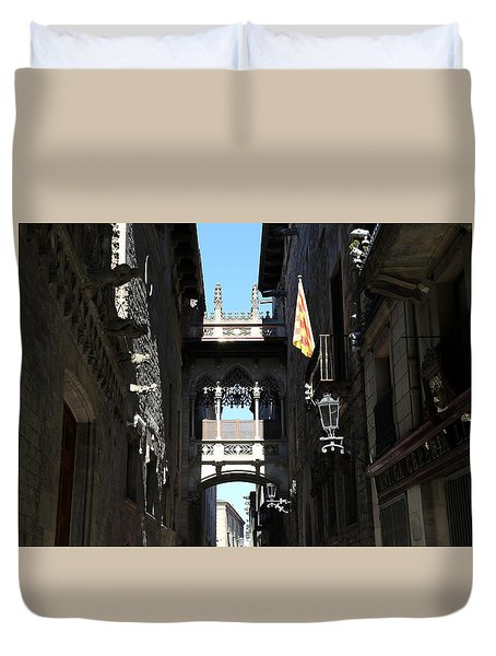 Duvet Cover featuring the photograph Barcelona 1 by Andrew Fare